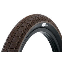 2 x (PAIR) Sunday Current BMX Tyres 20 x 2.40 Brown with Black Wall.