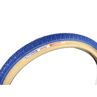 "2x (PAIR) 20"" x 1.75 Panaracer Old School Freestyle BMX Tyres Blue / Skin Wall"