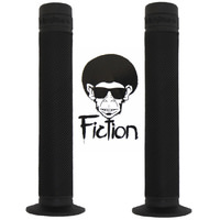 Fiction Troop Grip - Black Flanged BMX Grips - Soft Rubber BMX Grips with Flange.