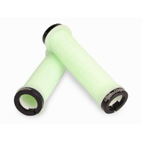 ODI Troy Lee Designs MTB Bike Lock-On Grips Bonus Pack Glow In The Dark w Black