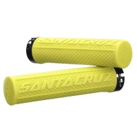 Santa Cruz Palmdale Flangeless MTB Grips - Tennis Yellow Bike Grips No Flange
