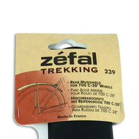 Zefal Trekking 239 Rear Bike Fender Mud Guard Black Plastic Mudguard / Mudshield
