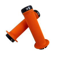 Evoke Lock-On Grips - Orange Mountain Bike / BMX Lock On Bike Grips