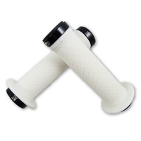 Evoke Lock-On Grips - White Mountain Bike / BMX Lock On Bike Grips