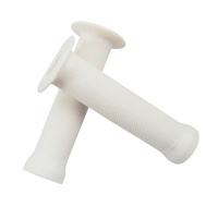 Evoke Flanged Grips - White BMX with Flange Scooter Bike Grips