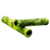 Stranger Quan Grip - Caleb Quanbeck Signature BMX Bike Grips - Yellow / Black