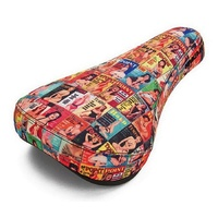Kink Bike Co - Smut Stealth Thick Sublimated Print BMX Seat - Stealth Pivotal