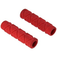Profile Design Logo Grips - Red Bike Grips - GRPRO4