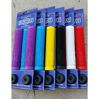 Sunday Cornerstone Flangeless BMX Bike Grips / Scooter Grips. Choice of Colours