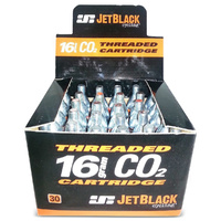 30 x 16gm CO2 Cartridges - Quality Jet Black brand BULK BUY - Jetblack