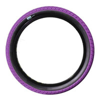 2 x (PAIR) Sunday Current BMX Tyres 20 x 2.25 Purple with Black Wall. 100PSI