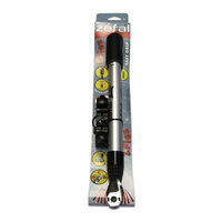 Zefal Flex Alloy 3103 Easy Grip Universal Bike Pump - Silver and Black