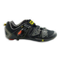 Mavic Ergo Pro Road Cycling Shoe Black w Yellow and Red Size UK 8.5/ US 9 Shoes