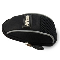 SciCon Contact Bike Bag - Seat Saddle Bag - Black with Silver Reflective Piping