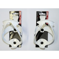 PAIR (2x) Elite Paron Race Bottle Cage - WHITE