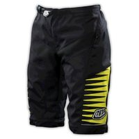 Troy Lee Designs Womens Moto Shorts Black With Yellow Large