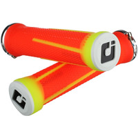 ODI Aaron Gwin AG1 Signature Lock-On Downhill MTB Grips - Fluro Orange/Yellow