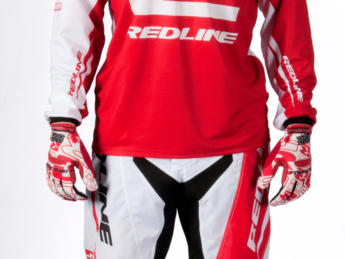 Various Sizes Flight Redline BMX Gloves White//Red Youth