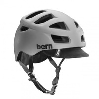 Bern Allston Bike Helmet - Matte Grey with Black Visor  - S/M, L/XL or 2XL/3XL