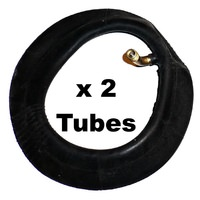 2x (PAIR) 10 x 2 inch Bike or Pram Tubes. 45/45 Degree Stem 200-6 Standard Car Valve