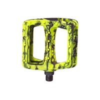 Odyssey Twisted PC 9/16 Plastic BMX Pedals - Tie Dye Yellow and Black Pedals