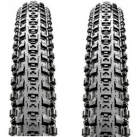 "2 x Maxxis Crossmark MTB Tyres.  29 x 2.10"" Black Mountain Bike Tires"