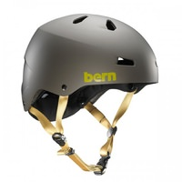 Bern Macon Bike Helmet - Matte Charcoal Grey, No Visor, Crank Fit