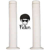 Fiction BMX Grips - Troop -  Flanged - Soft Rubber - White
