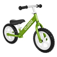 "Cruzee Two - 12"" Aluminium Balance Bike - Green with White Wheels"