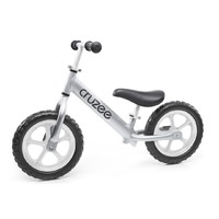 "Cruzee Two - 12"" Aluminium Balance Bike - Silver with White Wheels"