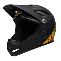 Bell Sanction Matte Black / Yellow / Orange Full Face Downhill Bike Helmet 2019
