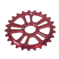 Mutiny Ethereal 25T BMX Sprocket - Matt Red 25 Tooth 22mm w 19mm Adapter