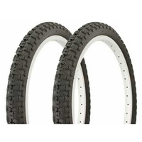 "2 x 20 Inch BMX  / Kids Bike Tyres. 20"" x 2.125"" CST Comp 3 Tires - Black"