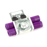 S&M Hoder Grips - Mike Hoder Signature BMX Grips - Purple - Made by ODI