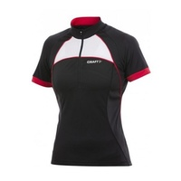 Craft AB Classic Women's Cycling Jersey - Black / Red / White Ladies Bike Jersey