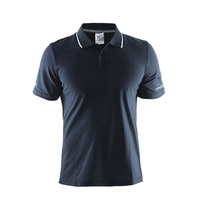 Craft In The Zone ITZ Men's Polo Shirt - Navy / White Sports Shirt