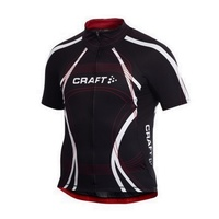 Craft PB Tour Mens Cycling Jersey - Black / Bright Red Bike Jersey