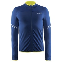 Craft Velo Mens Thermal Cycling Jersey - Deep Blue Bike Jersey