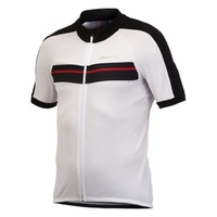 Craft AB Classic Mens Cycling Jersey - White / Black Bike Jersey - Medium