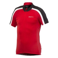 Craft AB Mens Cycling Jersey - Red Bike Jersey