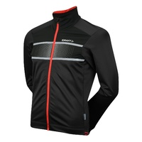 Craft Glow Mens Cycling Jacket - Black / Bright Red Bike Jacket