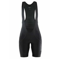 Craft Move Women's Bib Shorts - Black / Steel Cycling Bibs Knicks Bibshorts