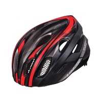 Limar 555 Road Helmet - Matt Black / Bright Red Road Bike Helmet