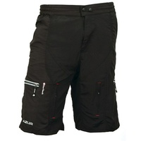 Azur Mens Fast Track MTB Mountain Bike Shorts - Black