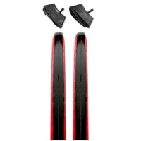 2 x (Pair) CST C1406 Road Bike Tyres + Tubes - Black / Red Wall 700 x 23c