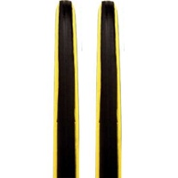 2 x CST C1406 Road Bike Tyres - Black / Yellow Wall 700 x 23c Tyres