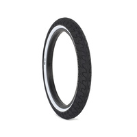 "2 x Rant Squad Whitewall BMX Tyre 2.3"" - Black W/ White Walls Bike Tire"
