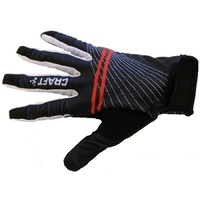 Craft Be Active Full Finger Gel Glove - Black / White / Red Bike Gloves - XS