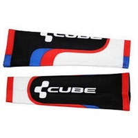 Cube Cycling Team Arm Warmer -  Black / White / Red Bike Arm Warmers - S/M