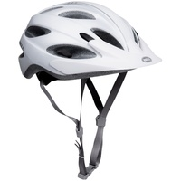 BELL Piston Soft Brim Matt White Bike Helmet -  Adult Universal Fit 54 - 61cm